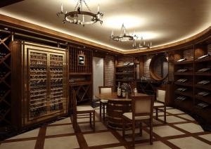 Piwniczka z winami w jednym z domów