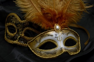 Romance Carnival Mask Close Mysterious Venice